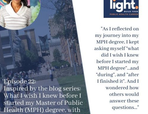 Inspired by the blog series: What I wish I knew before I started my Master of Public Health (MPH) degree, with Sujani Siva