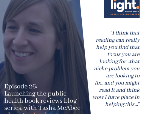 Launching the public health book reviews blog series, with Tasha McAbee
